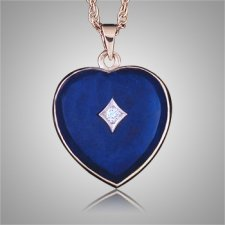 Lapis Lazuli Diamond Heart Keepsake Jewelry