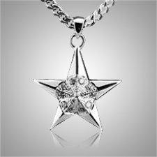 Five Point Star Keepsake Pendant