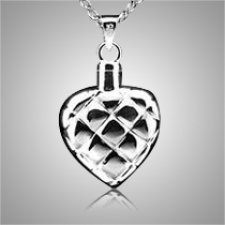 Quilted Heart Cremation Pendant