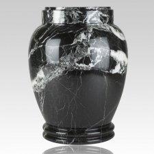 Black Zebra Medium Cremation Urn