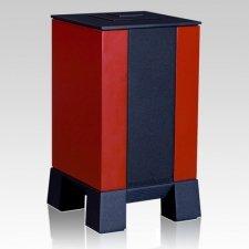 Red & Black Cremation Urn