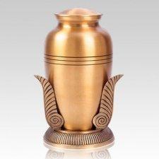 Bronze Leaf Cremation Urns