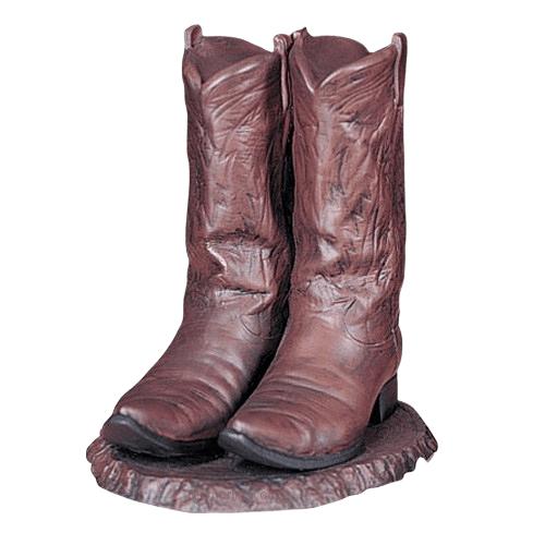 Cowboy Boots Ceramic Cremation Urn