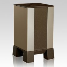 Gold & Brown Modern Cremation Urn