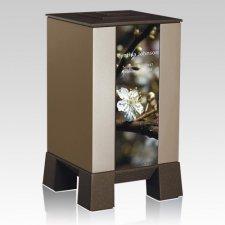 Gold & Cherry Modern Cremation Urn