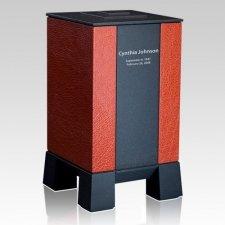 Orange & Black Modern Cremation Urn