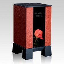 Orange & Rose Modern Cremation Urn