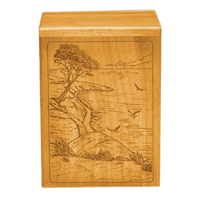 Bountiful Waters Oak Cremation Urn