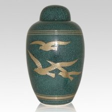 Doves Green Cremation Urn