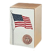 Marine Bronze Flag Cremation Urn