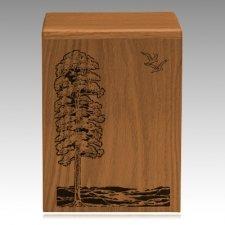Bountiful Waters Walnut Cremation Urn