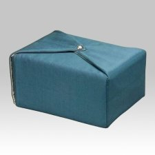 Steel Blue Wrap Cremation Urn