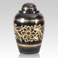 Ebony Bouquet Cremation Urns