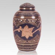 Patina Leaf Cremation Urn