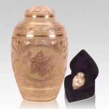 Cream Leaf Cremation Urns