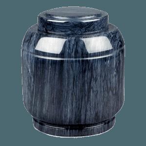 Crest Black Marble Cremation Urn