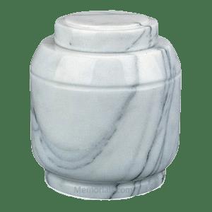 Crest White Marble Cremation Urn