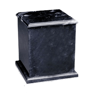 Eversquare Black Marble Cremation Urns