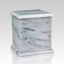 Eversquare White Marble Cremation Urns