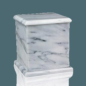 Eversquare White Marble Urn