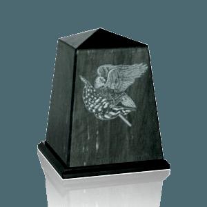 Obelisk Black Marble Cremation Urns