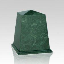 Obelisk Green Marble Cremation Urns