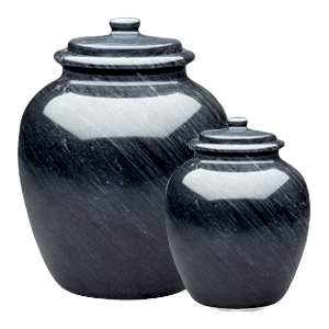 Legacy Black Marble Cremation Urns