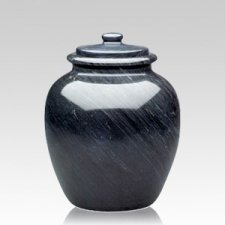 Legacy Black Medium Marble Urn