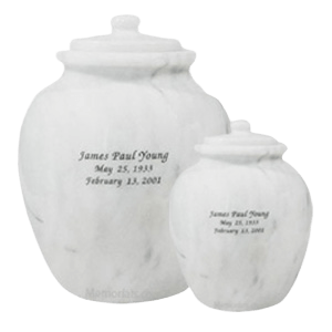Legacy White Marble Cremation Urns