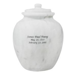 Legacy White Marble Urn