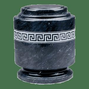 Greek Fret Marble Cremation Urn