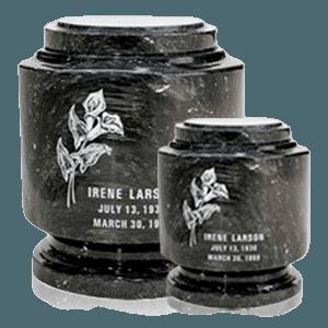 Estate Black Marble Cremation Urns