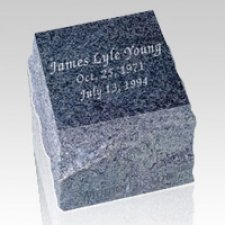 Garden Black Granite Cremation Urn