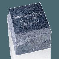 Garden Black Granite Cremation Urn
