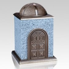 Bronze & Granite White Cremation Urn