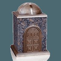Bronze & Granite Brown Cremation Urn