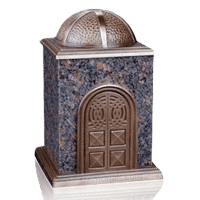 Bronze & Granite Brown Cremation Urn