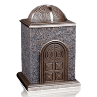 Bronze & Granite Rose Cremation Urn