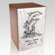 Remembrance White Marble Cremation Urn