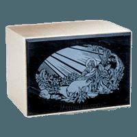 Remembrance Black Marble Cremation Urn