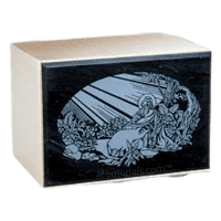 Remembrance Black Marble Cremation Urn