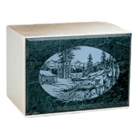 Remembrance Green Marble Cremation Urn