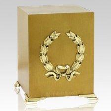 Brass Wreath Cube Cremation Urns