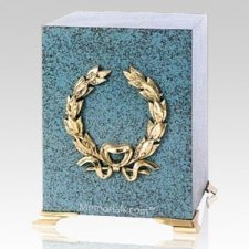 Patina Wreath Cube Cremation Urns