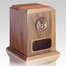 Military Oversized Walnut Cremation Urn
