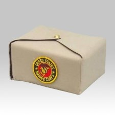 Cream Military Wrap Cremation Urn