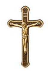 Cross With Christ Medallion Appliques