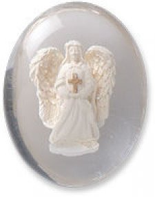 Angel with Cross Comfort Stone Keepsake