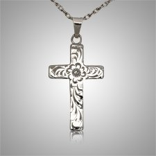 Floral Cross Keepsake Jewelry