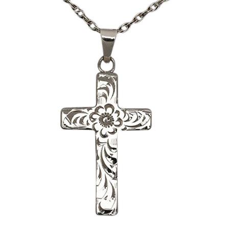 Floral Cross Keepsake Jewelry